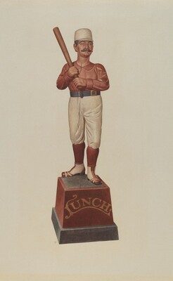 Cigar Store Figure: Ball Player