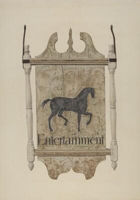 Tavern Sign (Black Horse Tavern)