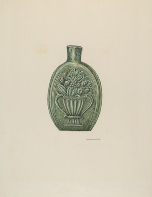 American Glass Flask