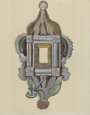 Candle Sconce with Mirror