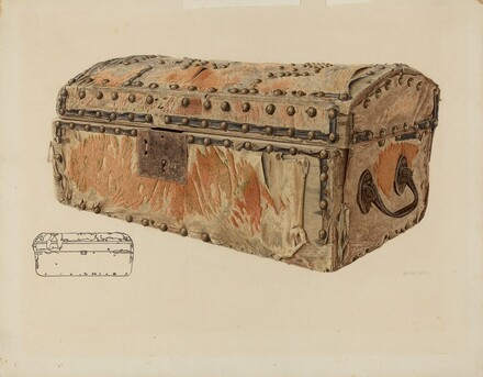 Deerskin Covered Chest