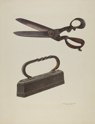 Tailor's Shears and Iron