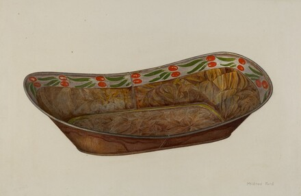 Toleware Bread Tray