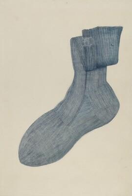 Shaker Man's Sock