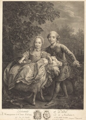 Le Comte d'Artois as an enfant with Mlle. Clotide