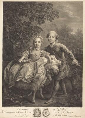 Le Comte d'Artois as an enfant with Mlle. Clotide