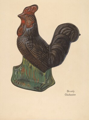 Toy Bank: Rooster