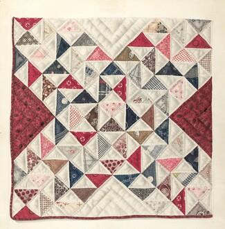 Mae A. Clarke, Patchwork Quilt, 1935/19421935/1942