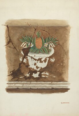 Wall Painting - Pineapple Motif