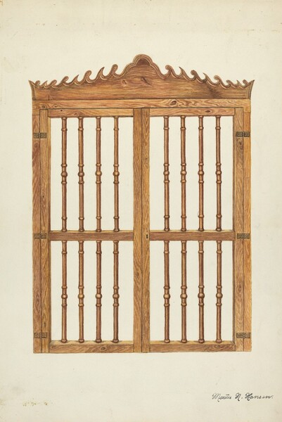 Grille Doors of Wood