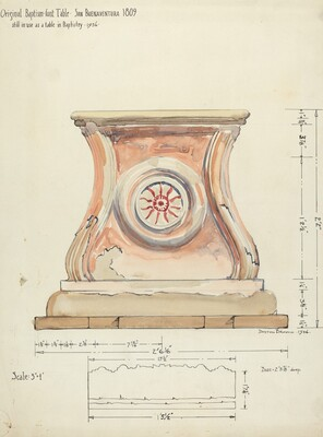 Stand for Baptismal Font