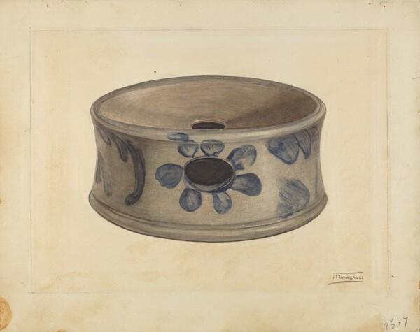 Grey Stoneware Cuspidor