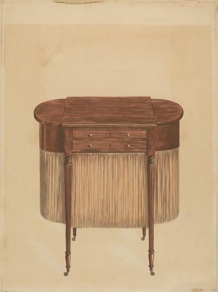 Sheraton Mahogany Sewing Table