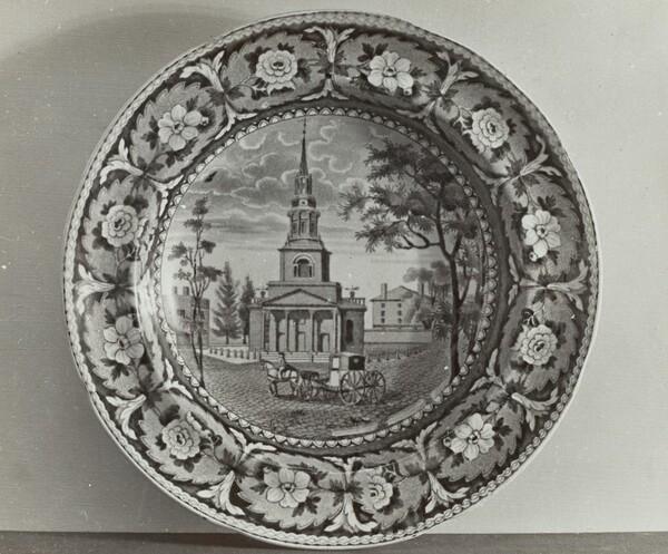 Plate - Octagon Church, Boston