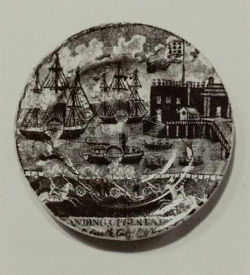 Cup Plate - Castle Garden