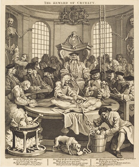 William Hogarth, The Reward of Cruelty, 17511751