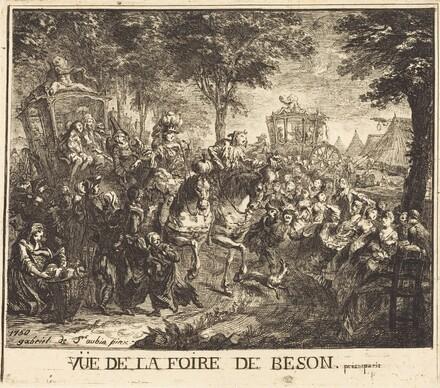 Vue de la foire de Beson