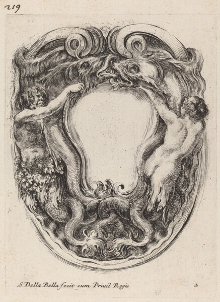 Cartouche Supported by Triton and Siren