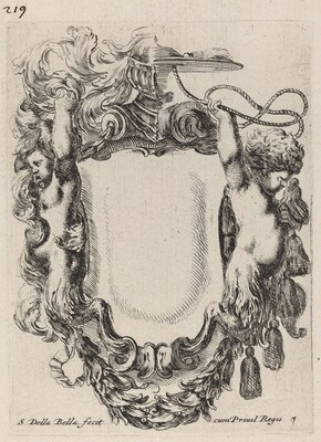 Cartouche with Infant Satyrs