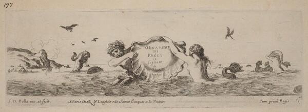 Title Page for Ornamenti di fregi e fogliani