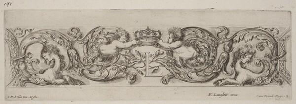 Ornamental Frieze with Letter L (Louis XIV)