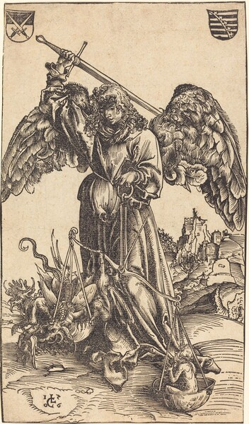 The Archangel Michael Weighing a Soul