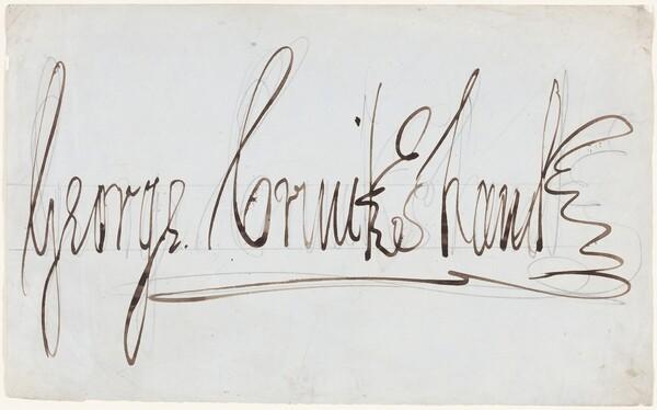 George Cruikshank (decorative signature)