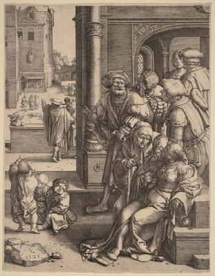 The Poet Virgil Suspended in a Basket