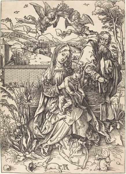 The Holy Family with the Three Hares