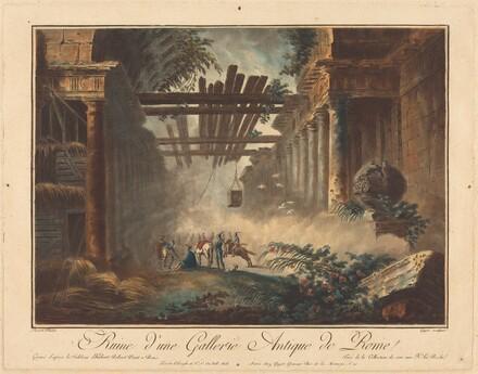 Ruine d'une gallerie antique de Rome