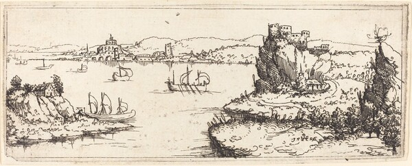 Landscape with Sail Boats