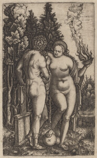 Man and Woman with a Ball