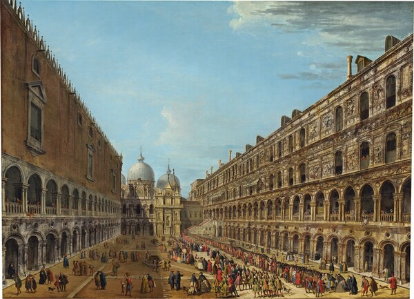 Procession in the Courtyard of the Ducal Palace, Venice