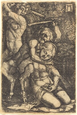 Two Satyrs Fighting about a Nymph