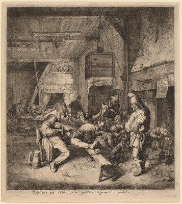 Violin Player Seated in a Tavern