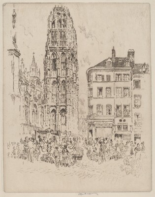 Flower Market and Butter Tower, Rouen