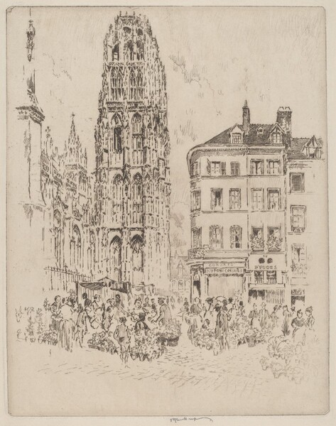 Flower Market and Butter Tower, Rouen