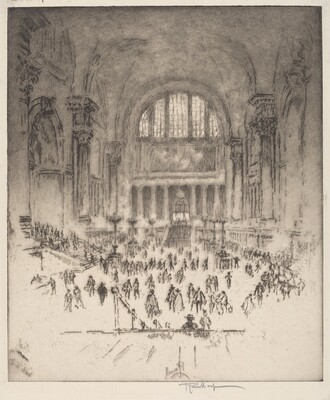 The Marble Hall, Pennsylvania Station, New York