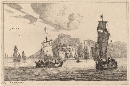 Harbor Scene with Mountainous Background