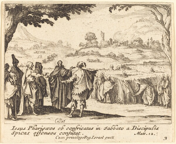 Jesus with the Pharisees