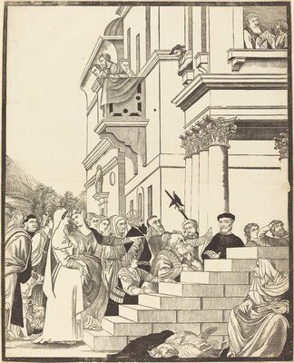 Presentation of the Virgin in the Temple [center plate]