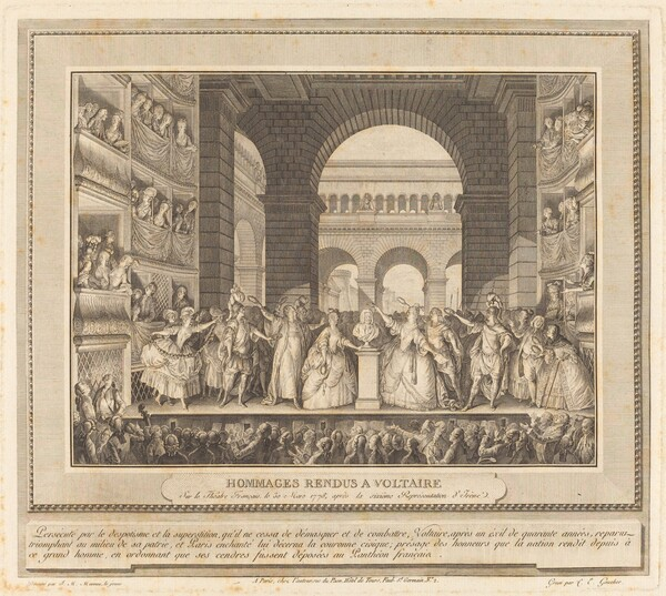 Couronnement de Voltaire (The Crowning of Voltaire)