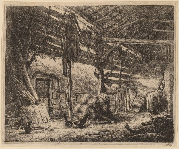 Interior of a Barn