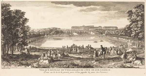 Vue du Chateau de Versailles du Cote de l'Orangerie