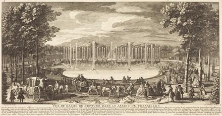 Vue du Bassin de Neptune dans le Jardin de Versailles