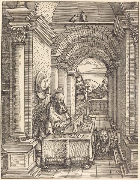 Saint Jerome Writing