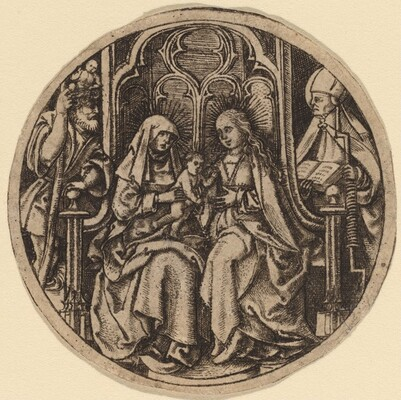 Madonna and Child with Saints Christopher and Erasmus