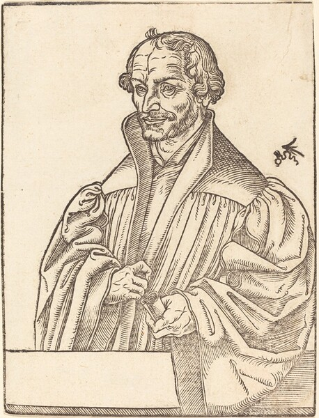 Philip Melanchton, Half-Length to the Left, Standing Behind a Breastwork