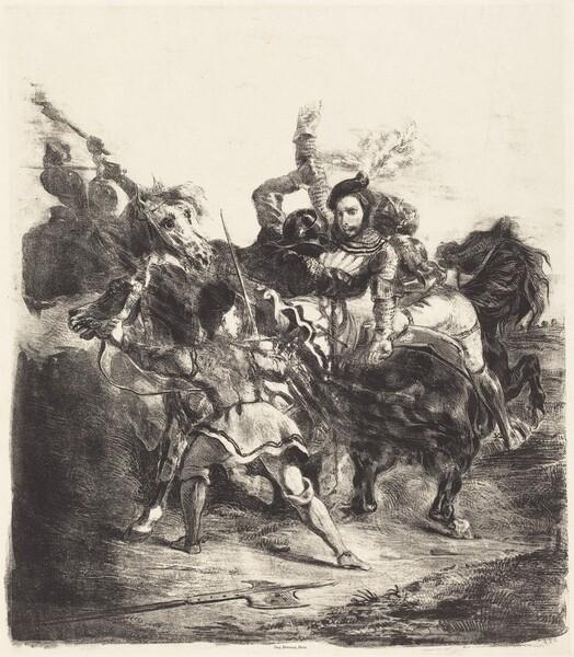 Weislingen Attacked by the Forces of Goetz (Weislingen attaqué par les gens de Goetz)