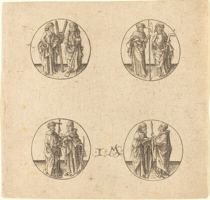 Eight Apostles in Four Roundels